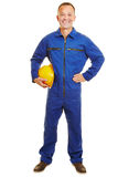 Construction worker with helmet Royalty Free Stock Images