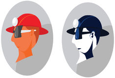 Construction worker with helmet Royalty Free Stock Photography