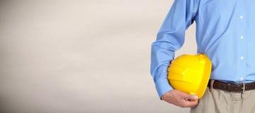 Construction worker with helmet. Stock Photos