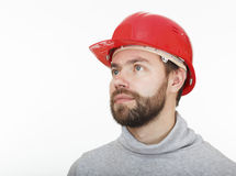 Construction worker in helmet. Royalty Free Stock Photography