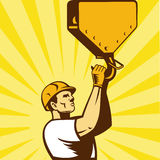 Construction worker hook retro style Royalty Free Stock Photography