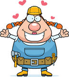 Construction Worker Hug Stock Images