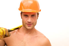 Construction Worker Hunk Royalty Free Stock Image