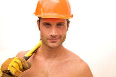 Construction Worker Hunk Royalty Free Stock Photography