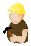 Construction Worker Icon Royalty Free Stock Photo