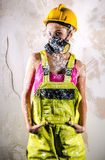 Construction worker indoors Royalty Free Stock Photos
