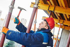 Construction worker installer Stock Photography