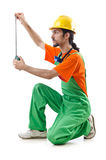 Construction worker isolated Stock Photos
