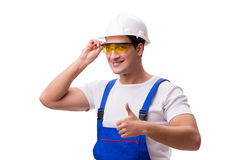 The construction worker isolated on white background. Construction worker isolated on white background Stock Photos