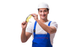 The construction worker isolated on white background. Construction worker isolated on white background Royalty Free Stock Photos