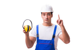 The construction worker isolated on white background. Construction worker isolated on white background Stock Image