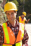 Construction Worker on the job Stock Photos