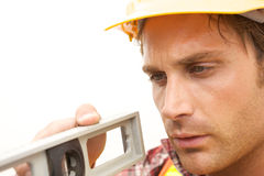Construction Worker on the job Stock Image