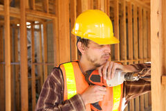 Construction Worker on the job Stock Photo