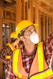Construction Worker on the job Royalty Free Stock Image