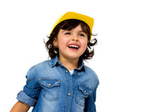 Construction worker little girl Stock Photography