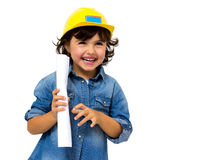 Construction worker little girl Royalty Free Stock Photography