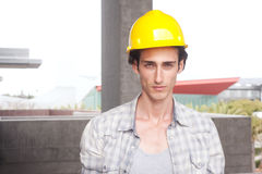 Construction worker on location Royalty Free Stock Photography