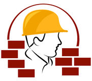 Construction worker logo. Illustration of construction worker logo Royalty Free Stock Photography