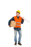 Construction Worker looking at empty space. Royalty Free Stock Photo