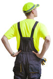 Construction worker looking up Stock Image