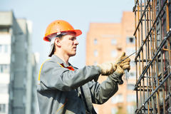 Construction worker making Royalty Free Stock Image
