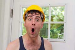 Construction Worker Man Stock Image