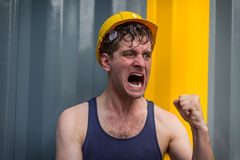 Construction Worker Man Stock Photo