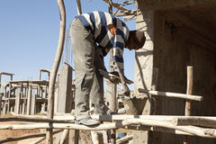 Construction worker, in Mek'ele, Ethiopia Stock Photography