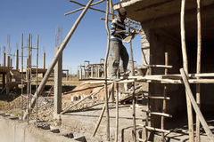 Construction worker in Mek'ele, Ethiopia Stock Images