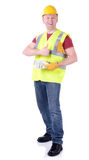 Construction worker money Stock Image