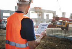 Construction Worker Planning Contractor Developer Concept Royalty Free Stock Images