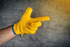 Construction Worker Pointing Finger Stock Image