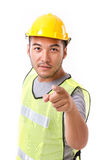 Construction worker pointing at you Stock Photo