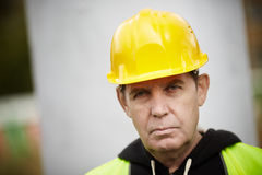 Construction Worker Portrait Royalty Free Stock Images