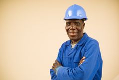 Construction Worker Portrait Stock Image