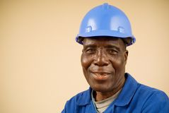 Construction Worker Portrait Stock Images