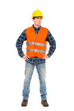 Construction worker posing. stock images