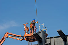 Construction worker on a raised platform 2 Stock Image