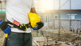 Construction Worker Ready to work. royalty free stock photography
