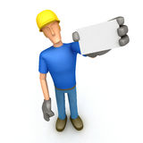 Construction worker rendering Stock Photography
