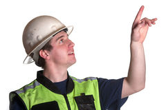 Construction Worker in safety jacket Stock Images