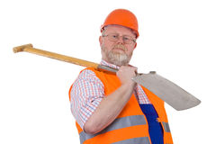 Construction worker with shovel Royalty Free Stock Images
