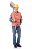 Construction worker with a shovel Royalty Free Stock Photography