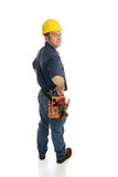 Construction Worker Side View Royalty Free Stock Photos