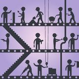 Construction worker silhouettes Royalty Free Stock Photos