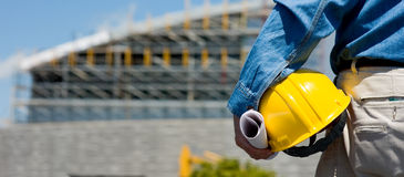 Construction Worker at Site Stock Images