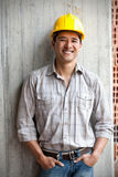 Construction worker smiling Royalty Free Stock Photo