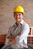 Construction worker smiling Royalty Free Stock Image