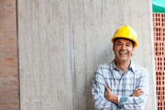 Construction worker smiling Royalty Free Stock Images